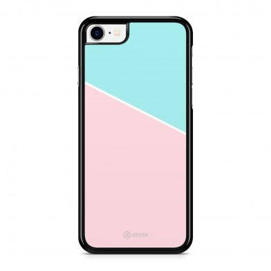 Coque iPhone 5/5S/SE Graphique Bicolore Rose Turquoise