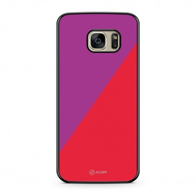 Coque iPhone 5/5S/SE Graphique Bicolore Aubergine Rouge