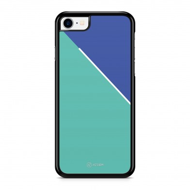 Coque iPhone 5/5S/SE Graphique Bicolore Bleu Turquoise