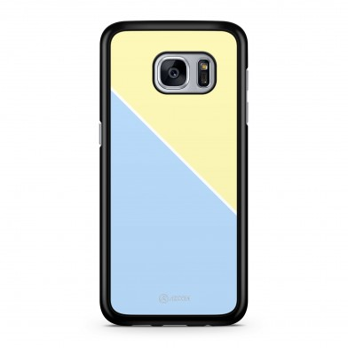 Coque iPhone 5/5S/SE Graphique Bicolore Bleu Jaune