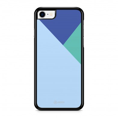 Coque iPhone 5/5S/SE Graphique Tricolore Bleu Turquoise