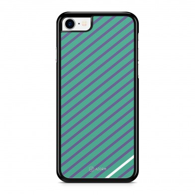 Coque iPhone 5/5S/SE Rayure Minimal Vert Violet