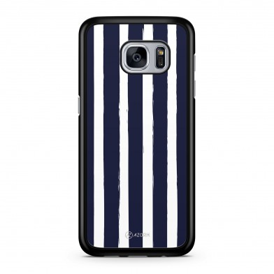 Coque iPhone 5/5S/SE Rayure Vertical Bleu Blanc
