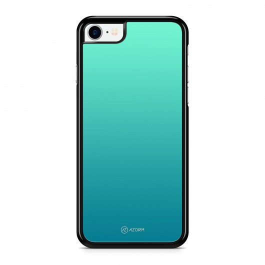 Coque iPhone 7 Dégradé Sea Light Turquoise