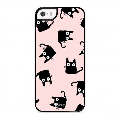 Coque iPhone 5/5S/SE Chat Shadow Rose