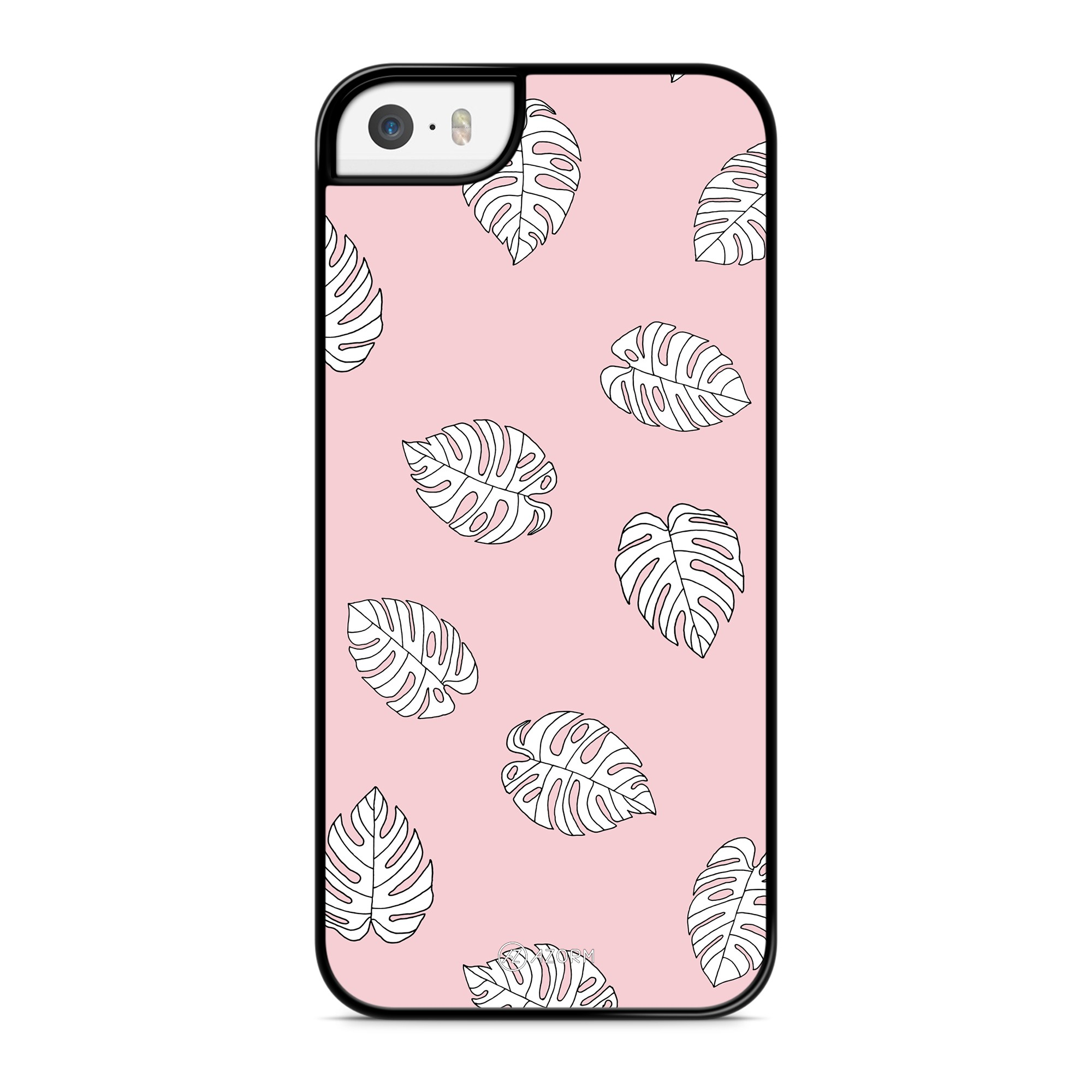 Coque Palmier Tropical Blanc Rose