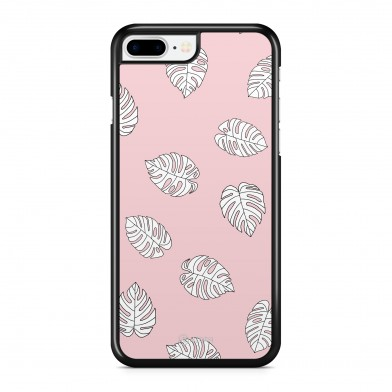 Coque iPhone 5/5S/SE Palmier Tropical Blanc Rose
