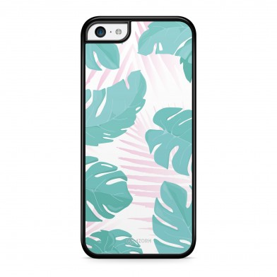 Coque iPhone 5/5S/SE Tropical Summer Rose Turquoise