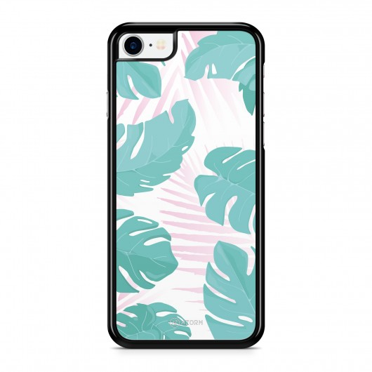 Coque iPhone 7 Tropical Summer Rose Turquoise