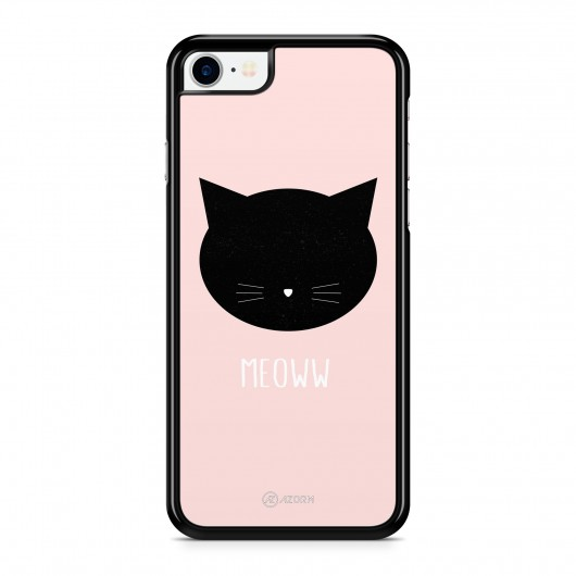 Coque iPhone 7 Chat Meoww Rose