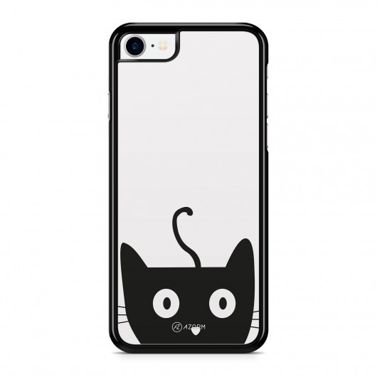 Coque iPhone 7 Chat Cute Gris