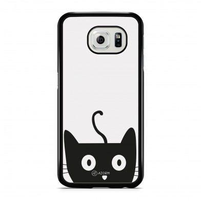 Coque iPhone 5/5S/SE Chat Cute Gris