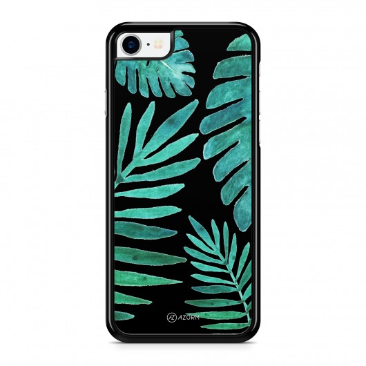 Coque iPhone 7 Tropical Night Vert Noir