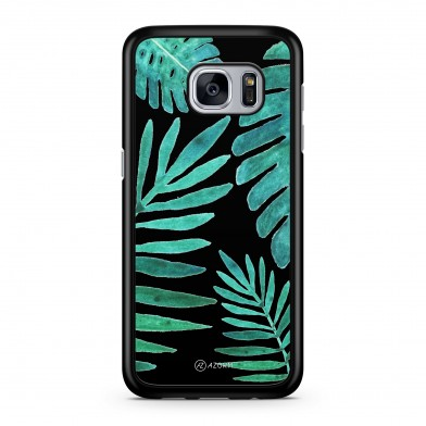 Coque iPhone 5/5S/SE Tropical Night Vert Noir