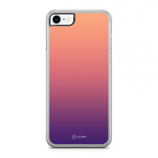 Coque iPhone 7 Dégradé Sunset Orange Violet