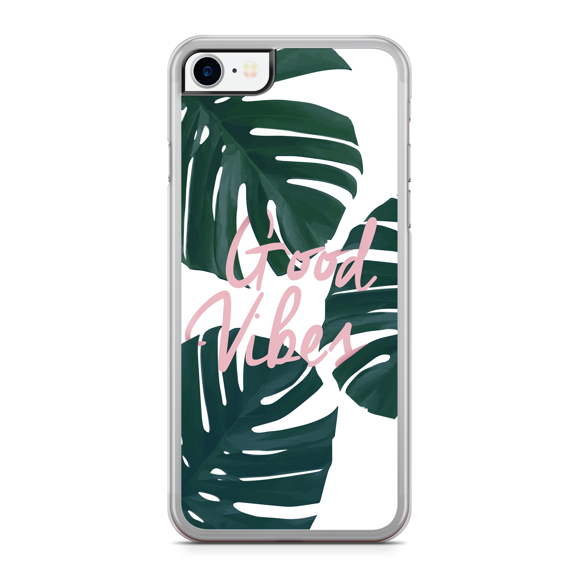 Coque Tropical Good Vibes Rose Vert