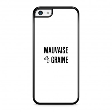 Coque iPhone 7 Message Mauvaise Graine