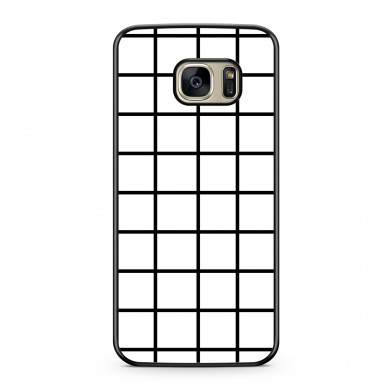 Coque iPhone 7 Graphique Grid Pattern Blanc