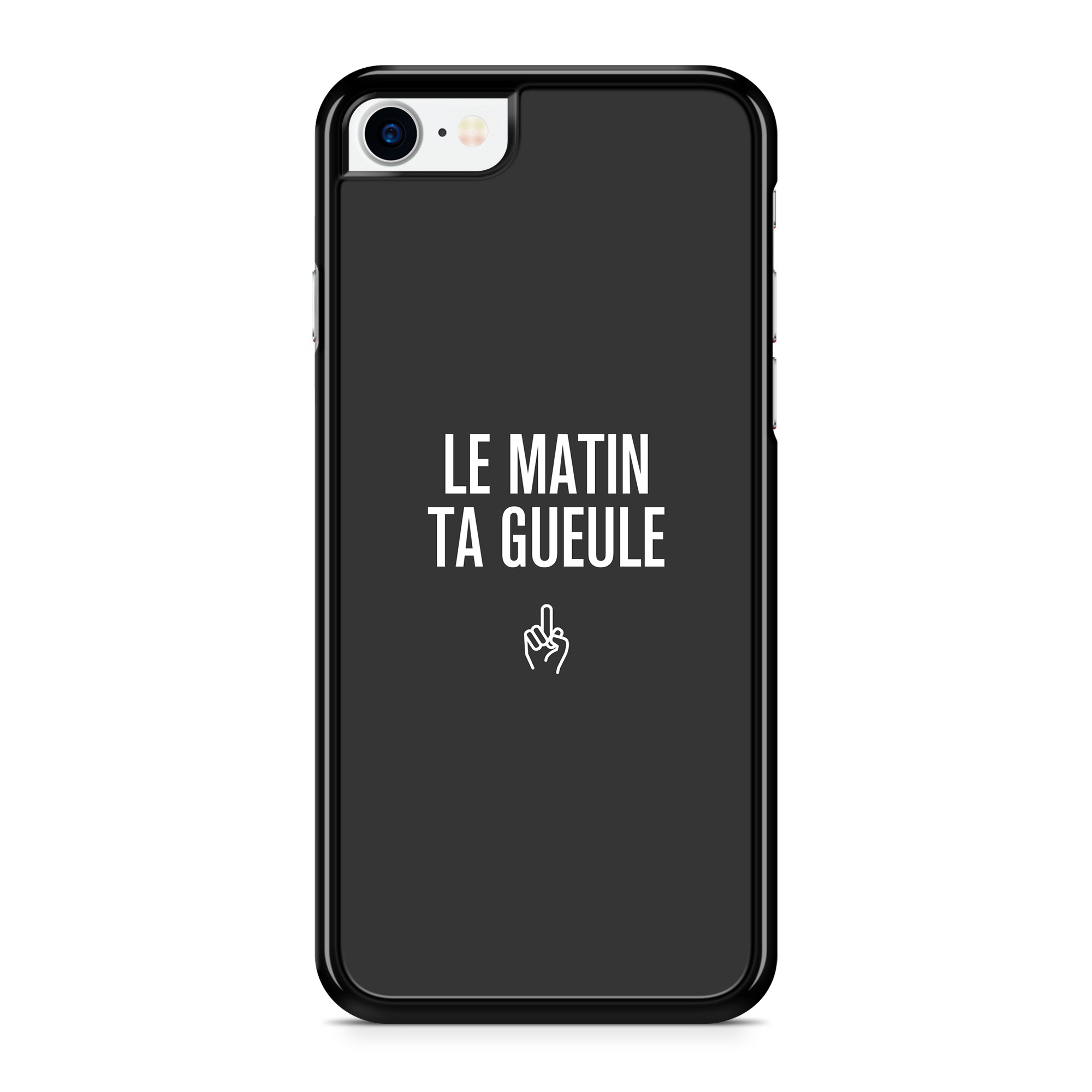 Coque Message Le Matin Gris