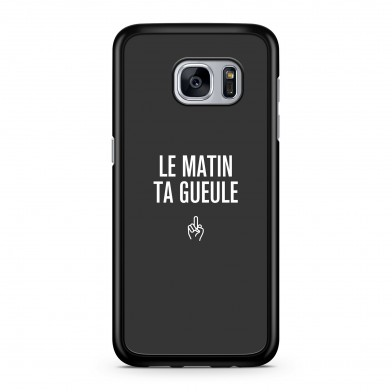 Coque iPhone 7 Message Le Matin Gris