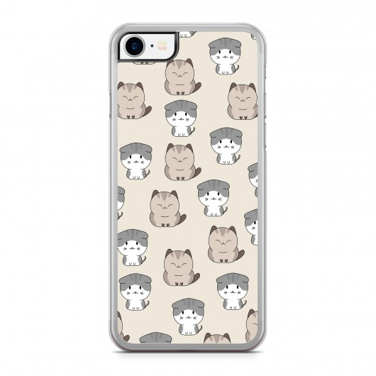 Coque iPhone 7 Chat Cute Beige