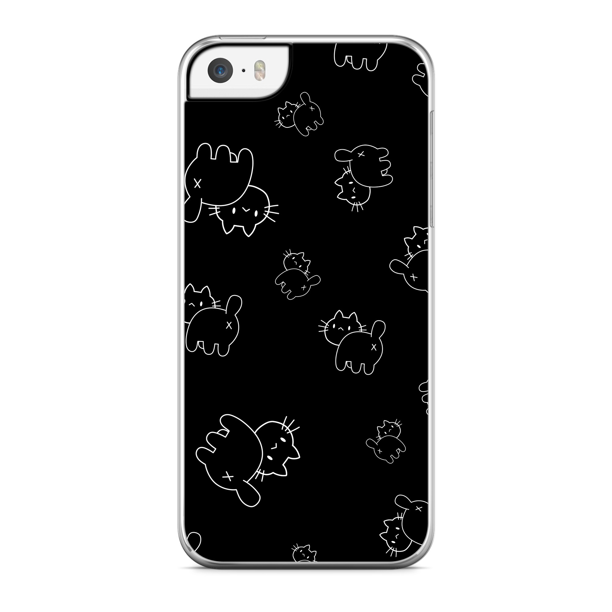Coque Little Chat Cross Noir
