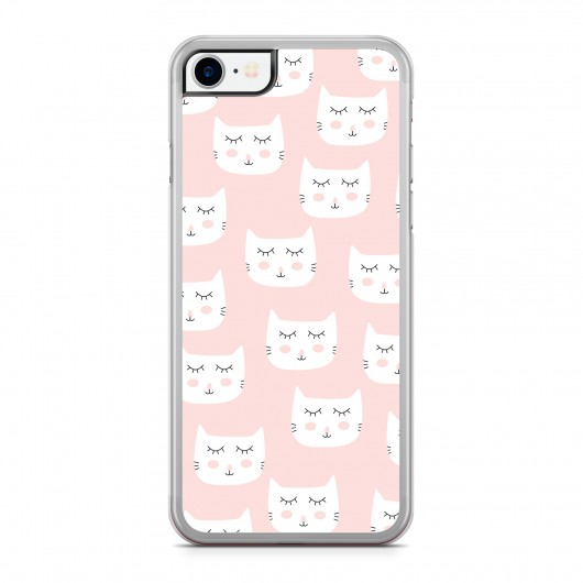 Coque iPhone 7 Chat Cute Rose