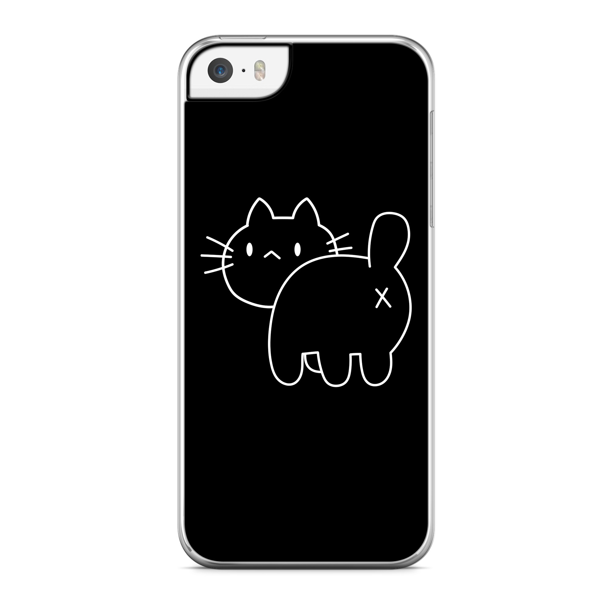 Coque Chat Cross Back Noir