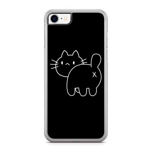 Coque iPhone 7 Chat Cross Back Noir