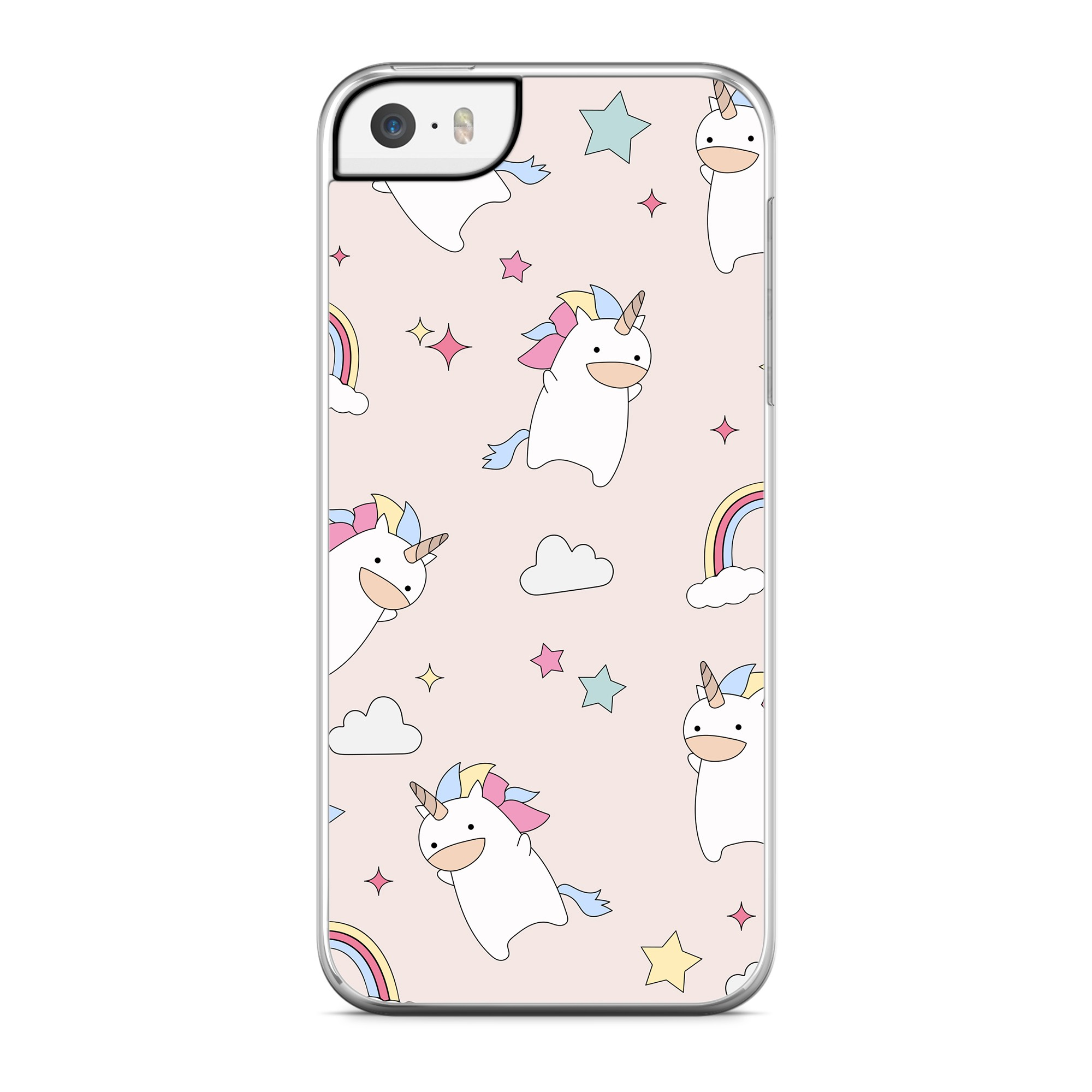 Coque Licorne & Rainbow Rose