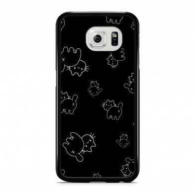Coque iPhone 5/5s/SE Little Chat Cross Noir