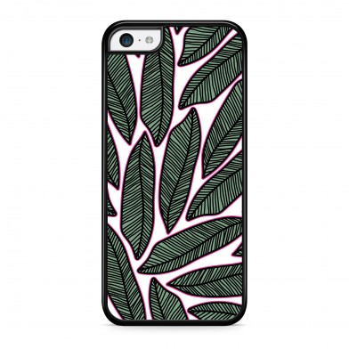 Coque iPhone 5/5s/SE Tropical Arty Vert